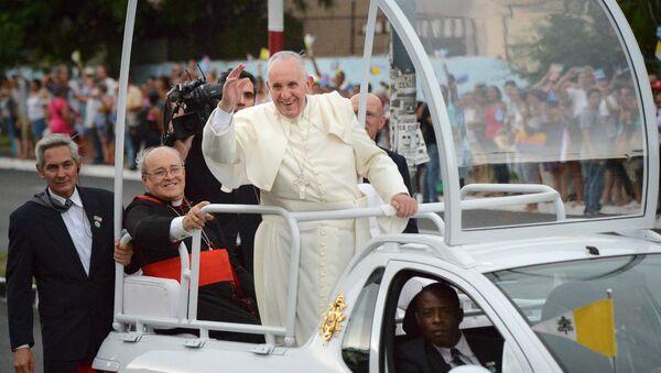 El papa Francisco en La Habana - Sputnik Mundo