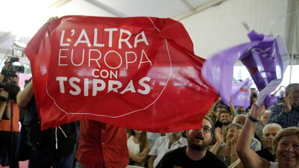 Partidarios de Syriza en Atenas - Sputnik Mundo
