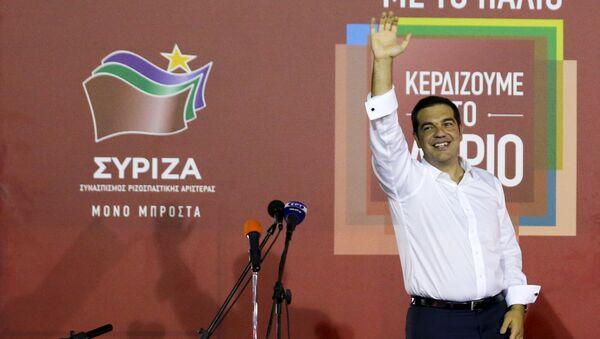El dirigente de Syriza, Alexis Tsipras - Sputnik Mundo