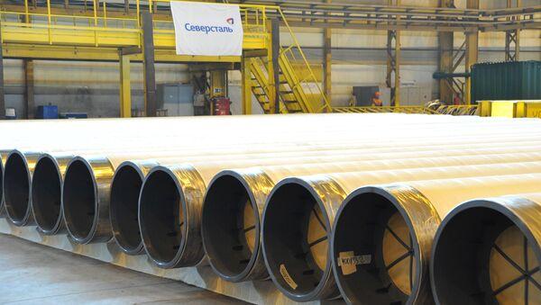 Все трубы для морского газопровода «Турецкий поток» покрываются тремя слоями полипропилена для защиты от коррозии. - Sputnik Mundo