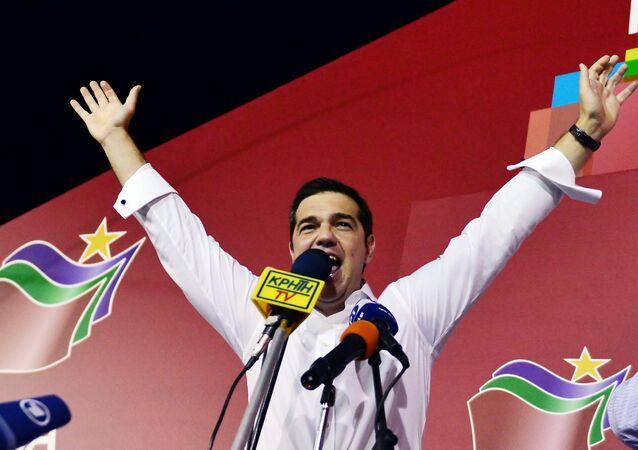 Alexis Tsipras, vencedor de las elecciones parlamentarias celebradas en Grecia