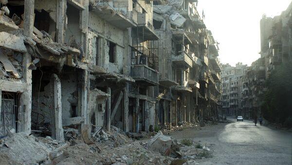 Consecuencias de los bombardeos en las afueras de Damasco - Sputnik Mundo