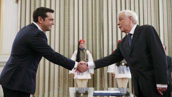 Alexis Tsipras y Prokopis Pavlópulos - Sputnik Mundo