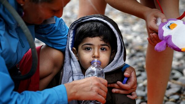 Niño refugiado - Sputnik Mundo