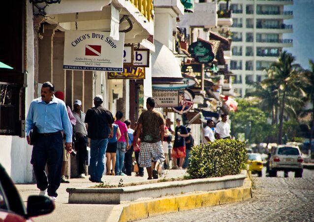Las calles del Puerto Vallarta, México