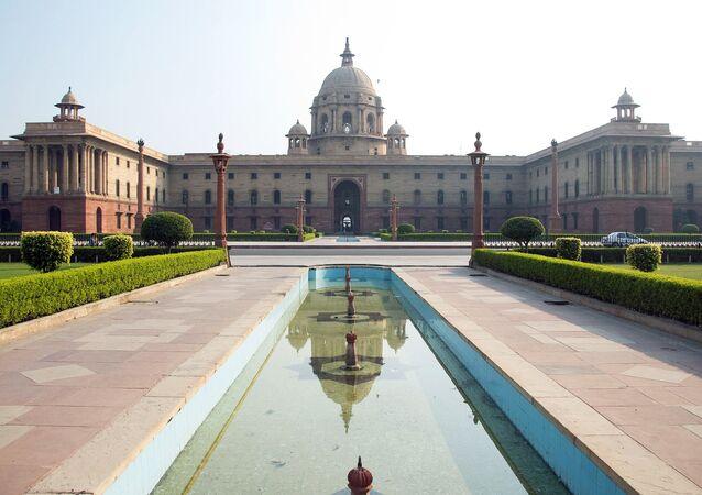 La sede de Ministerio de Finanzas de India