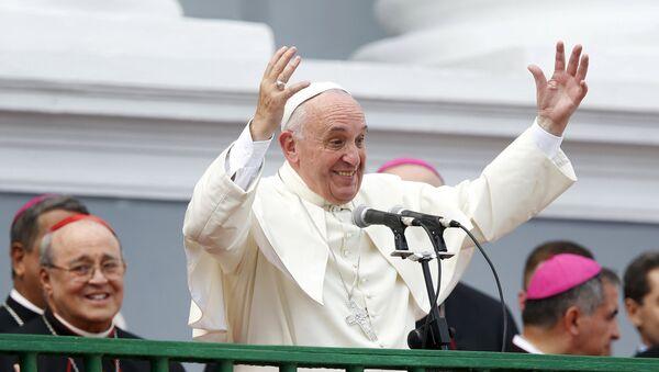 Papa Francisco durante su visita a Cuba - Sputnik Mundo