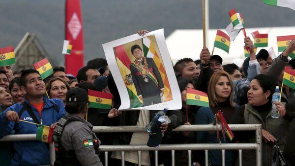 Partidarios del presidente de Bolivia Evo Morales - Sputnik Mundo