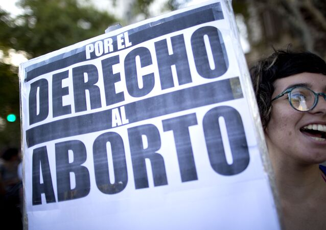 Una manifestación por el derecho al aborto (archivo)