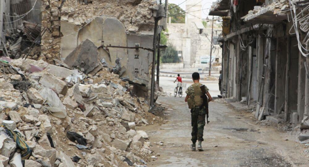 Combatiente rebelde del Ejército Libre de Siria