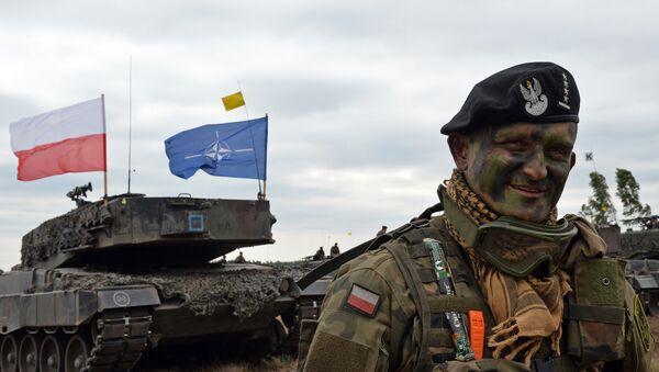 Militar polaco durante los ejercicios NATO Response Force en Zagan - Sputnik Mundo