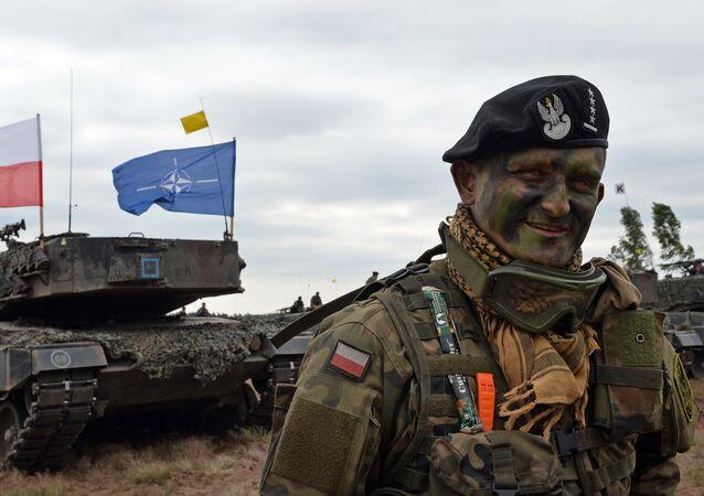 Militar polaco durante los ejercicios NATO