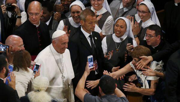 Papa Francisco en La Basílica del Santuario Nacional de la Inmaculada Concepción - Sputnik Mundo