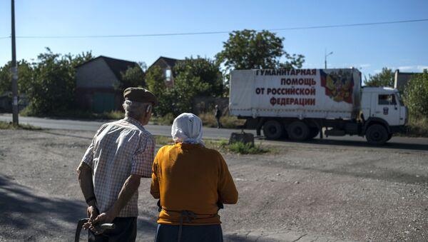La caravana de camiones número 38 - Sputnik Mundo