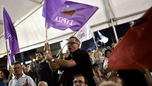 Partidarios de Syriza - Sputnik Mundo
