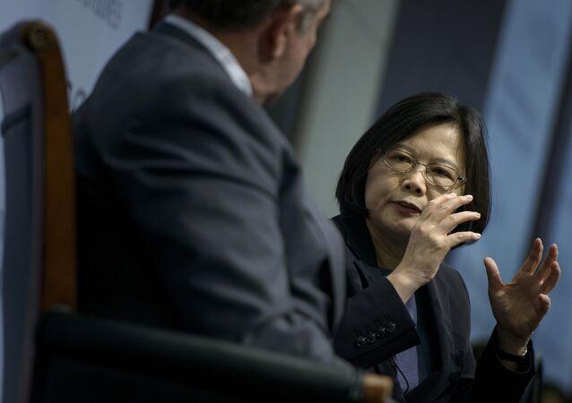 Tsai Ing-wen, líder del Partido Democrático Progresista de Taiwán
