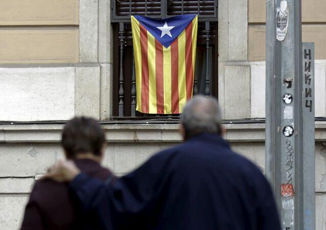 Una bandera no oficial de Cataluña