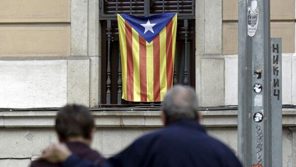 Una bandera no oficial de Cataluña, Estelada - Sputnik Mundo