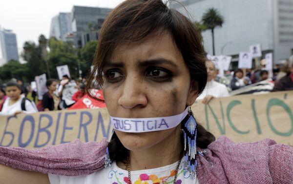 Un año de la masacre de los estudiantes de magisterio rural de Ayotzinapa. Ciudad de México - Sputnik Mundo