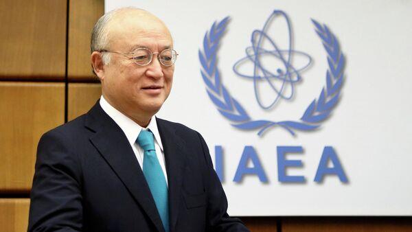 International Atomic Energy Agency (IAEA) Director General Yukiya Amano arrives for a board of governors meeting at the IAEA headquarters in Vienna November 20, 2014 - Sputnik Mundo