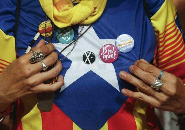 Partidario de la independencia de Cataluña (archivo)