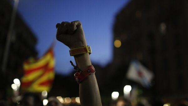 Partidiarios del proceso soberanista de Cataluña - Sputnik Mundo