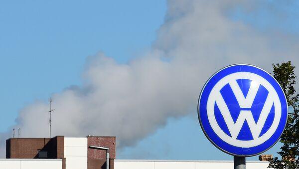 Logotipo del fabricante alemán de automóviles Volkswagen, Wolfsburg - Sputnik Mundo