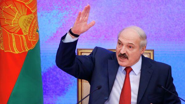 Belarusian President Alexander Lukashenko speaks during a news conference in Minsk, Belarus. File photo - Sputnik Mundo