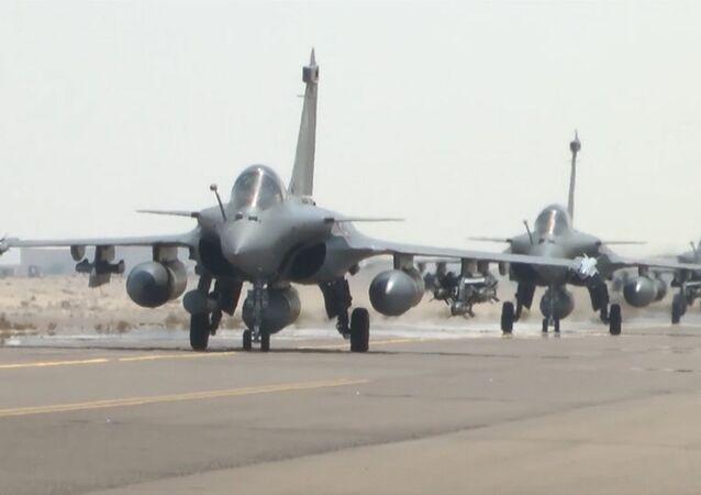 Cazas franceses Dassault Rafale en misión contra EI