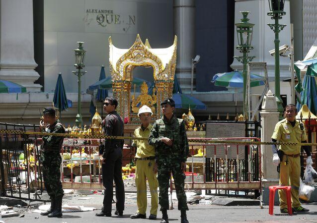 El lugar de atentado en Bangkok (Archivo)