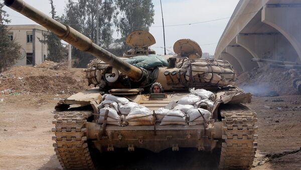 Tanque sirio al este de Damasco - Sputnik Mundo