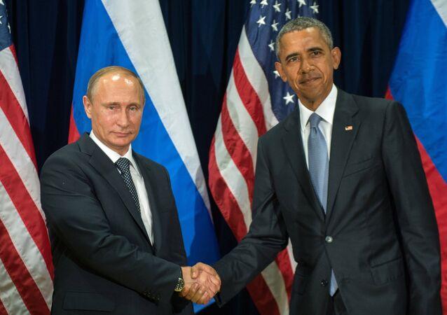 Presidente de Rusia, Vladímir Putin y presidente de EEUU, Barack Obama (archivo)