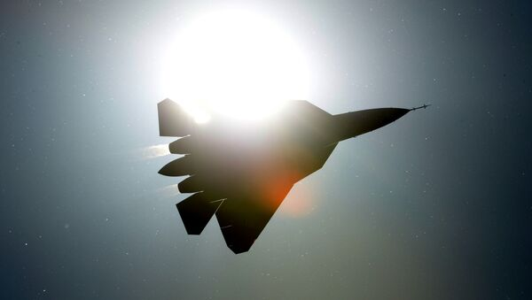 Caza de quinta generación Su-57 PAK FA (imagen referencial) - Sputnik Mundo