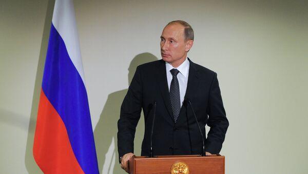 Vladímir Putin, presidente de Rusia, toma parte en la 70a sesión de la Asamblea General de la ONU, EEUU - Sputnik Mundo
