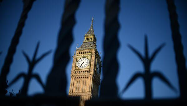 The Big Ben clock Tower is pictured in central London on July 22, 2012, five days before the start of the London 2012 Olympic Games. - Sputnik Mundo