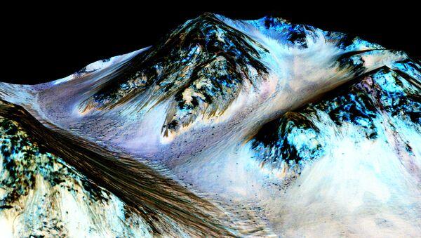 La NASA considera la vida en Marte tras confirmar agua en su superficie - Sputnik Mundo