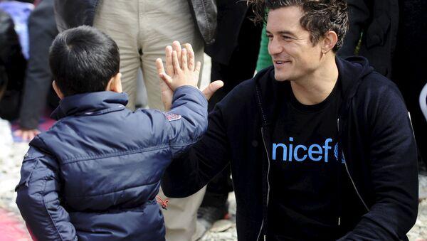 Orlando Bloom, el embajador de Buena Voluntad de la UNICEF - Sputnik Mundo
