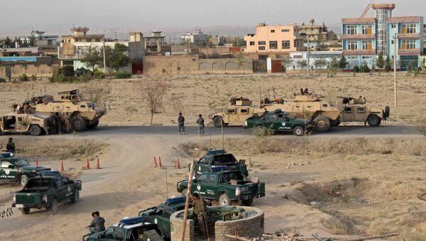 Fuerzas de seguridad afganas en la ciudad de Kunduz durante enfrentamientos con Talibán - Sputnik Mundo