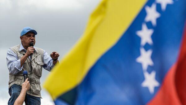 Líder opositor venezolano pronuncia un discurso - Sputnik Mundo