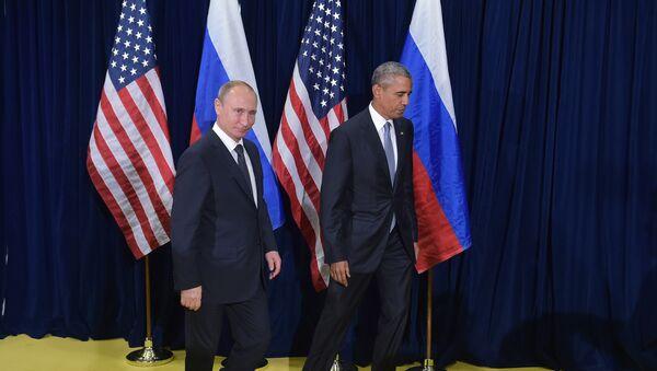 Presidente de Rusia, Vladímir Putin y presidente de EEUU, Barack Obama - Sputnik Mundo