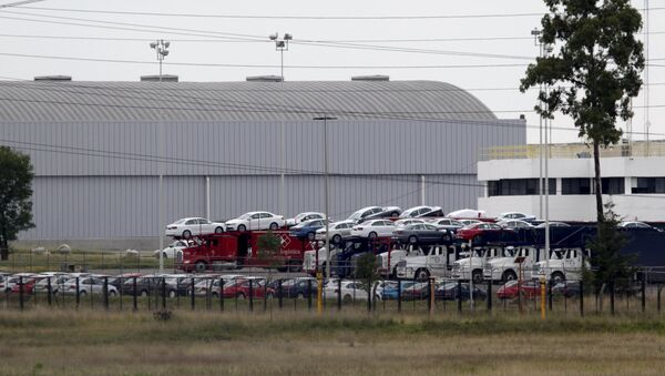 La planta Volkswagen México en central estado de Puebla - Sputnik Mundo