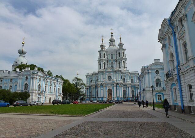 Sede de la Conferencia, Facultad de Relaciones Internacionales de la Universidad Estatal de San Petersburgo, ex-monasterio Smolny