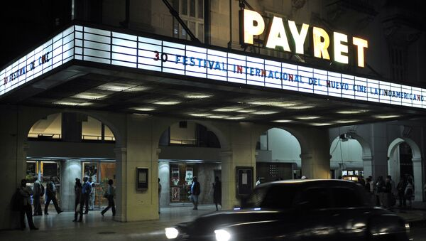 View of the facade of the Payret Theatre in downtown Havana during the 30th International Latin American Film Festival - Sputnik Mundo