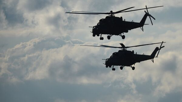 Helicópteros de combate Mi-35 - Sputnik Mundo