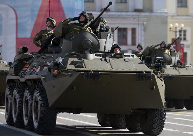 BTR-82A, vehículo blinadado del Ejército de Rusia
