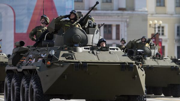 BTR-82A, vehículo blinadado del Ejército de Rusia - Sputnik Mundo