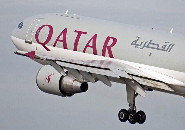El avión de Qatar Airways