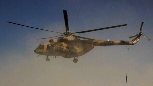 Un helicóptero afgano (imagen ilustrativa) - Sputnik Mundo