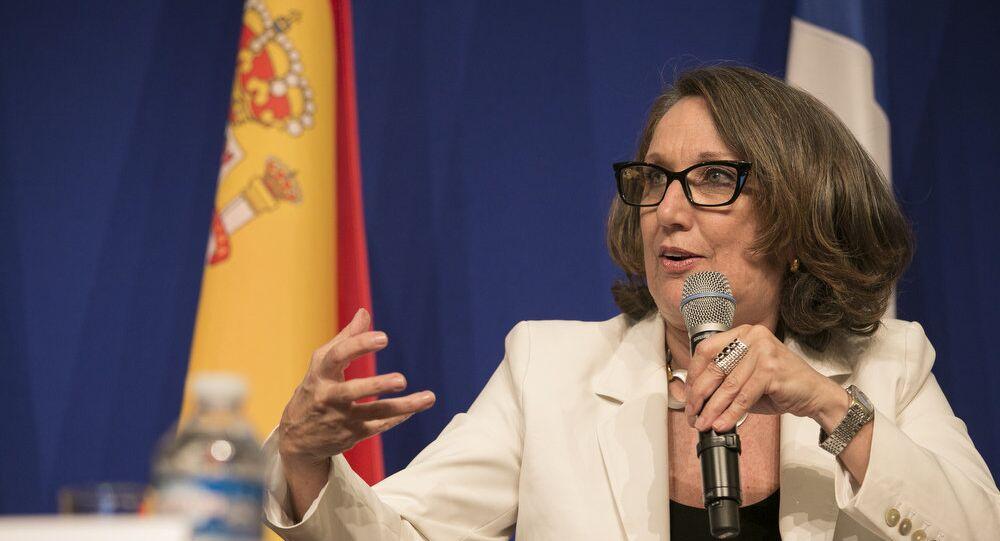 Rebeca Grynspan Mayufis, administradora asociada del programa de las Naciones Unidas para el Desarrollo