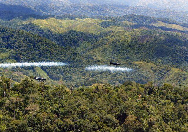Fumigación aérea de glifosato contra la coca